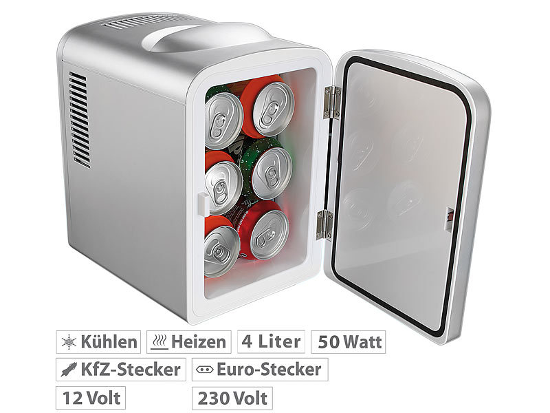 Mini Kühlschrank Lautlos Test : Rosenstein söhne mobiler mini kühlschrank mit wärmefunktion