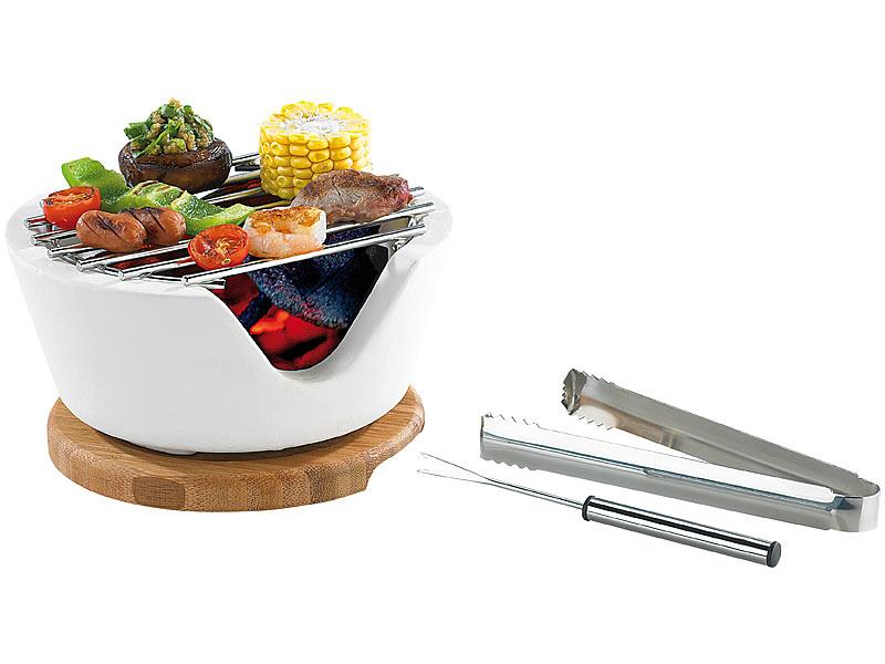 rosenstein s hne mini tischgrill f r holzkohle cook chips 13 cm. Black Bedroom Furniture Sets. Home Design Ideas