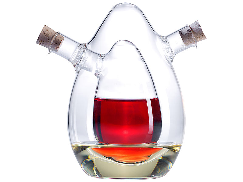 Rosenstein & Söhne 2in1-Essig Und Öl-Spender Aus Glas