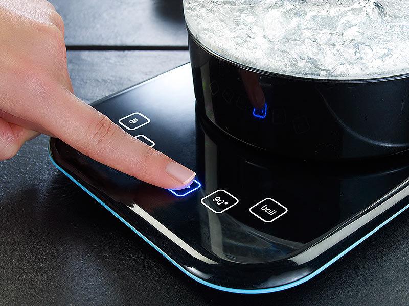 rosenstein s hne glas wasserkocher wsk mit temperaturwahl. Black Bedroom Furniture Sets. Home Design Ideas