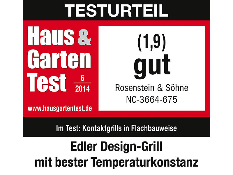 rosenstein s hne premium tisch glasgrill mit touchpad. Black Bedroom Furniture Sets. Home Design Ideas
