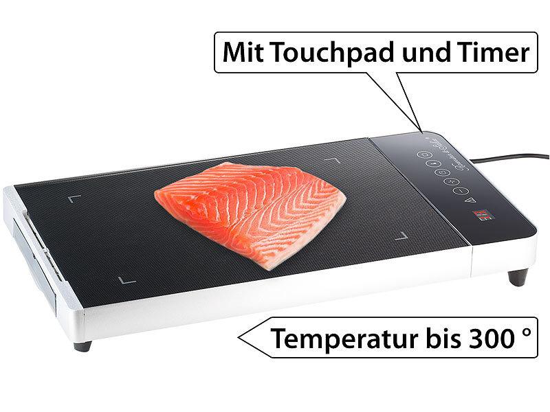 rosenstein s hne glasgrill mit touchpad und timer 800 w. Black Bedroom Furniture Sets. Home Design Ideas