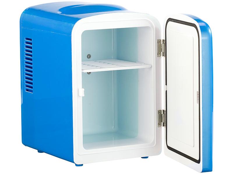 rosenstein s hne mini k hlschrank mit warmhalte funktion f r 12 230 v 4 liter blau. Black Bedroom Furniture Sets. Home Design Ideas