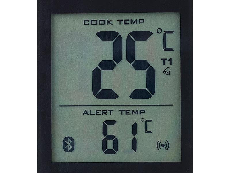 rosenstein s hne grillthermometer m bluetooth android ios app 2 temperatur f hler. Black Bedroom Furniture Sets. Home Design Ideas
