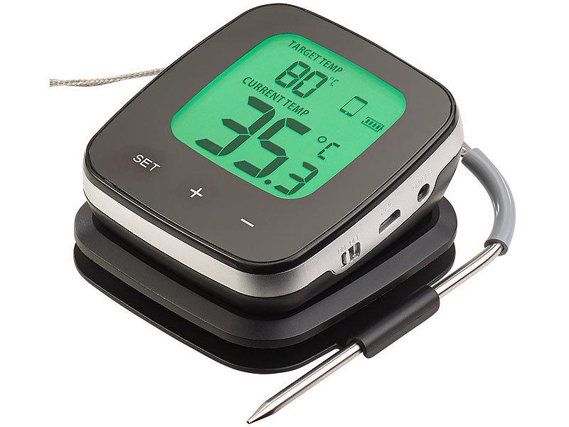 Kühlschrank Thermometer Digital : Rosenstein & söhne wlan grill thermometer mit 2 fühlern und app