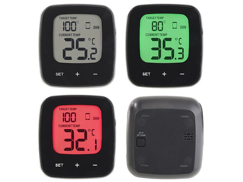 Kühlschrank Thermometer : Rosenstein söhne wlan grill thermometer mit lcd display und app