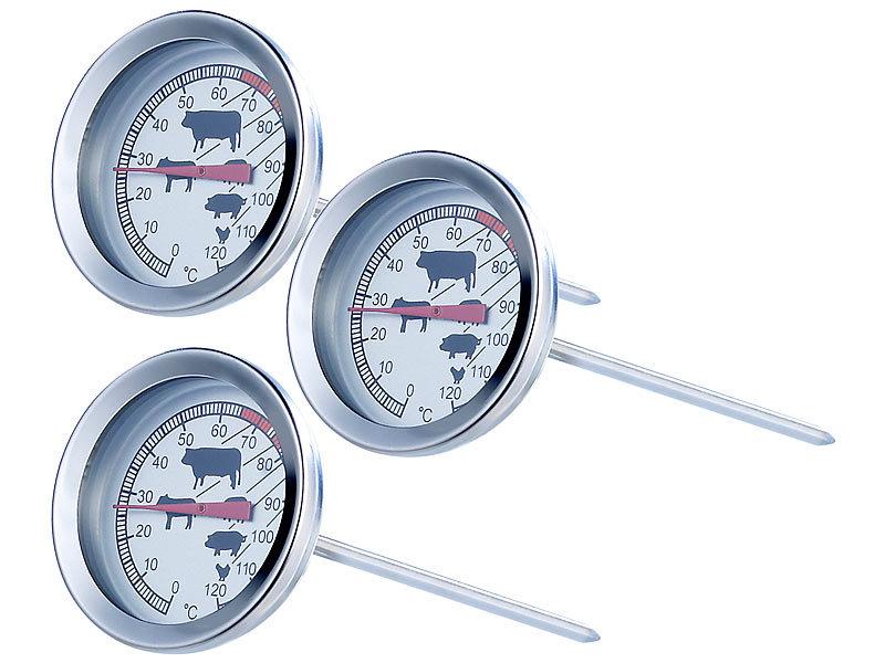 Kühlschrank Thermometer : Rosenstein & söhne analoges xl fleisch und braten thermometer 3er set