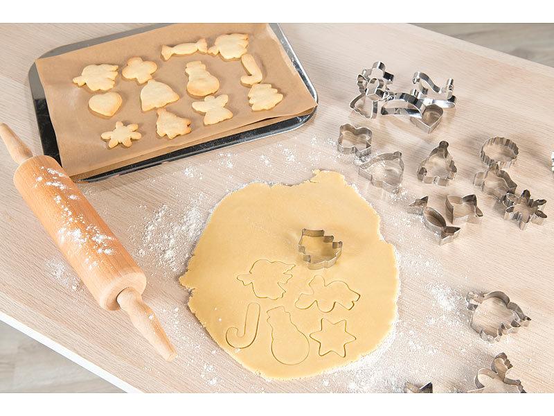 Plätzchen-Roller Teigroller Ausstecher Weihnachten Keksform Ausstechform