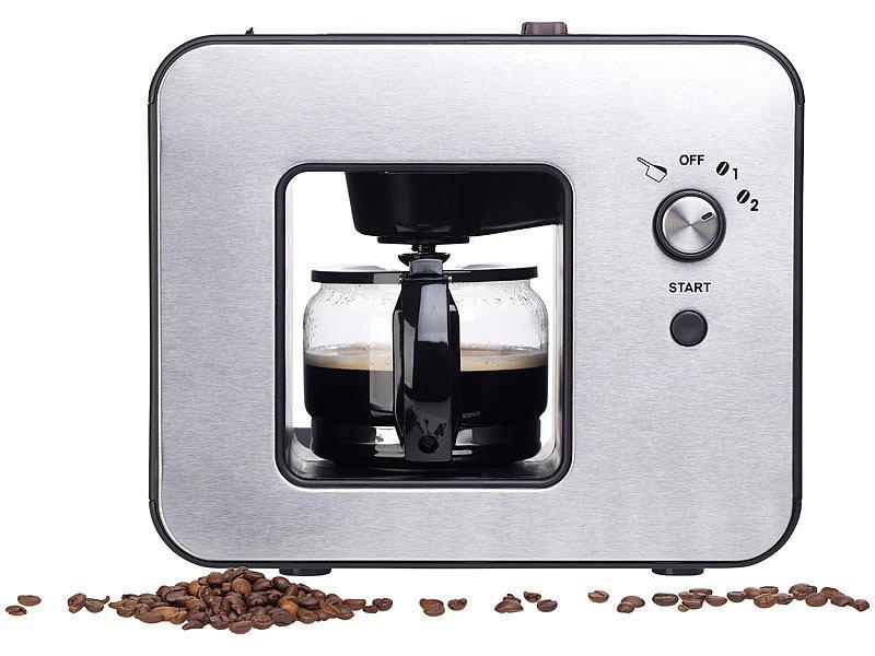 Rosenstein Söhne Vollautomatische Design Kaffeemaschine Mit Bohnen