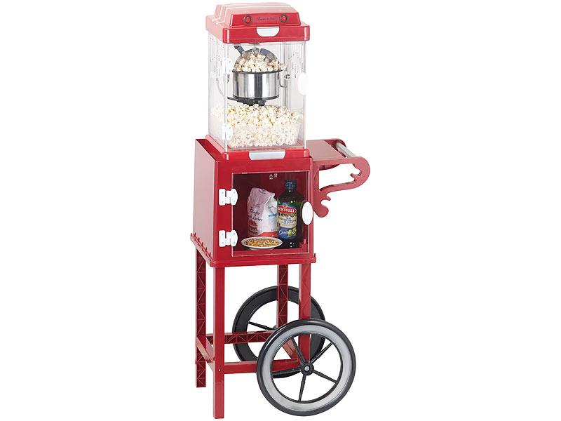 """Popkornmaschine Retro-Popcorn-Maschine /""""Movie/"""" im 50er-Jahre-Look"""