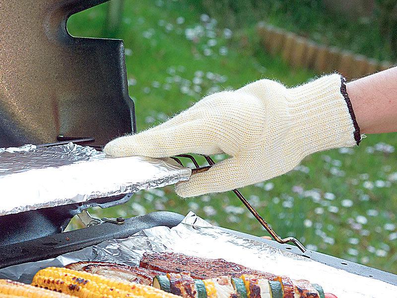 rosenstein & söhne hitzebeständige grillhandschuhe, 1 paar - Hitzeschutzhandschuhe Küche