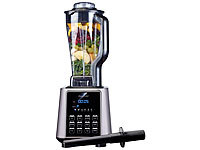 Rosenstein & Söhne Profi-Standmixer BR-2000, 6 Programme, 2 l, 1.600 W, 33.000 U/Min.; Küchenmaschinen-Sets, Smoothie-Maker Küchenmaschinen-Sets, Smoothie-Maker Küchenmaschinen-Sets, Smoothie-Maker Küchenmaschinen-Sets, Smoothie-Maker