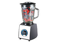 Rosenstein & Söhne Glas-Standmixer, 6 Klingen, 7 Modi, Ice Crush, 600W, 1,5l, Profi-Clean; Smoothie-Maker Smoothie-Maker Smoothie-Maker Smoothie-Maker