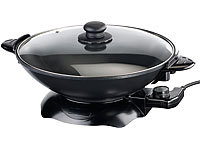 Rosenstein & Söhne Elektrischer Wok mit Thermostat, 1.500 W, 5,1 l (refurbished)