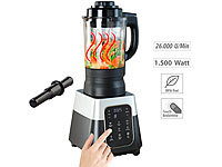 Rosenstein & Söhne Profi-Standmixer mit Wärme-Funktion, Touch-Tasten, 1,75 l, 1.500 Watt; Küchenmaschinen-Sets Küchenmaschinen-Sets Küchenmaschinen-Sets Küchenmaschinen-Sets