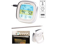 Rosenstein & Söhne Digitales Braten & Ofenthermometer, Touch-Display, Timer, bis +250 °C